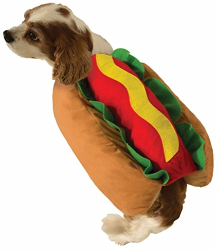 Costumes Colonial Dog (Cute Hot Dog Pet Costume Dog Cat Wiener Bun Halloween Food Small)