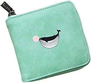 Black Temptation Platz-Karten-Kasten-Mappen-Leder Geldbörse mit Reißverschluss-Dolphins