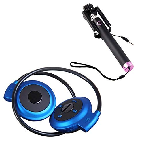 Drumstone Mini 503 Wireless Bluetooth Headset and Ultra Compact Pocket Size Wired Selfie Stick