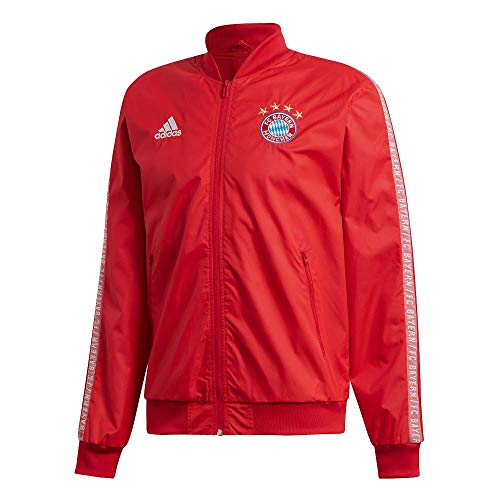 (adidas Bayern Munich Anthem Jacket - Red 2019-2020 - L)