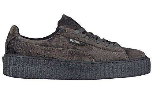 Puma X Fenty Di Rihanna Women Creeper Velluto Platform Sneaker Ghiacciaio Grigio