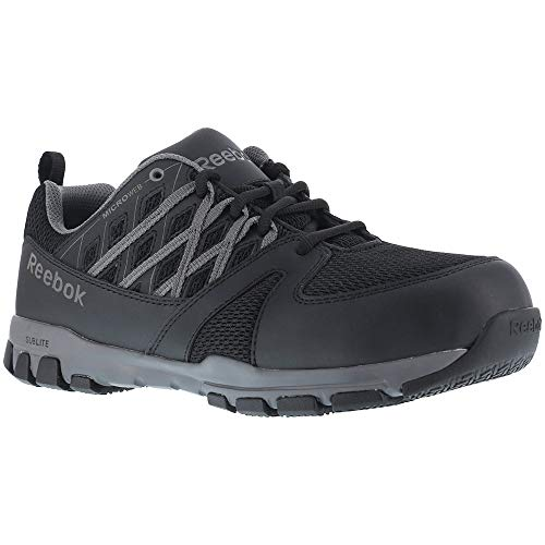 RB4016 Reebok Men's Sublite Safety Shoes - Black - 4.5 - M