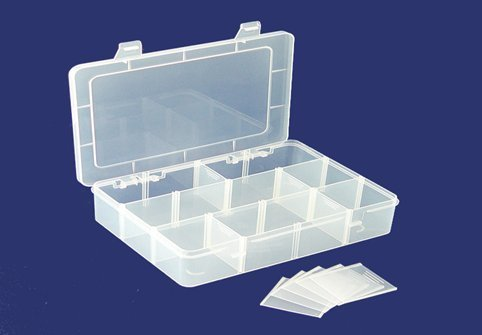 Clear Plastic Jewelry Box With 12 Compartment Beads Storage Container,custom plastic storage box tools manufacturer