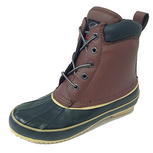 GU-FS VS-21S Women's Duck Boots Leather Waterproof Thermolite Insulated Hiking 5-Eye Winter Shoes (8 B(M) US, Tan-1) ()