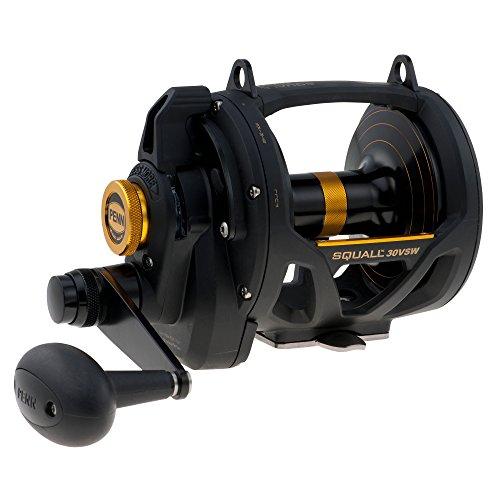 30lb Reel - Penn 1292937 30VSW Squall Lever Drag 2 Speed Reel, 1035/30