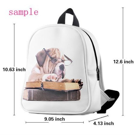 This school bag is much more suitable for kindergarten children/ Treasure Design Kid's School Bag (Small)/PU Leather/Backpack With Golden Gate Bridge Theme