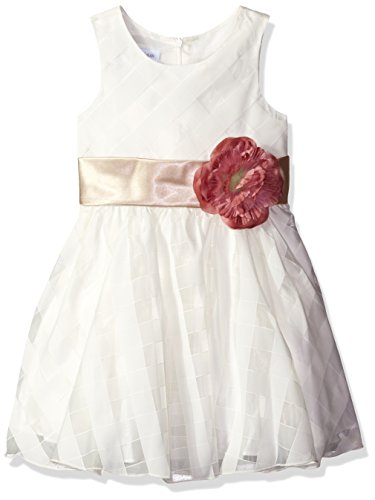 Bonnie Jean Big Girls' Sleeveless Side Sash Party Dress, Ivory, 12