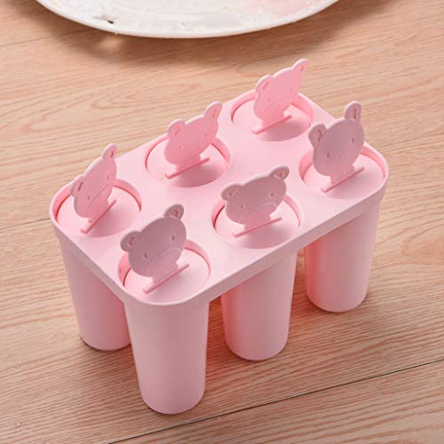 Popsicle Molds-Handmade Homemade Popsicles-DIY Refrigerator Ice Molds - 6 At A Time - PP Material