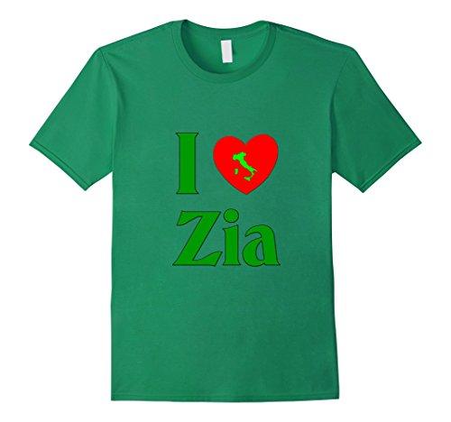 Mens I Love Zia (Italian aunt) t-shirt Medium Kelly - I Zia Love