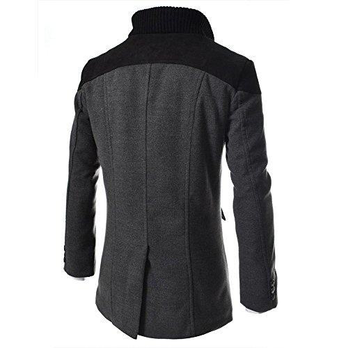 Grigio Trench lana Cappotti Cappotti Cappotti Angelof caldo invernali stile in per in uomo Cappotti lana coat Hpvqp6w