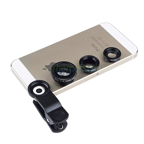 3 in1 FishEye Wide Angle Macro Telephoto Lens Camera for iPh