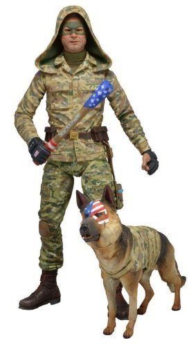 """NECA Series 2 Kick Ass 2 (Hooded Version) Colonel Stars and Stripes 7"""" Scale Action Figure"""