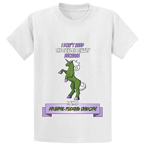 Likeu Majestic Fucking Unicorn Youth Graphic Crew Neck