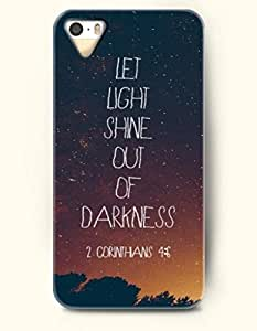 iPhone 4 4S Case OOFIT Phone Hard Case **NEW** Case with Design Let Light Shine Out Of Darkness 2 Corinthans 4:6- Bible Verses - Case for Apple iPhone 4/4s