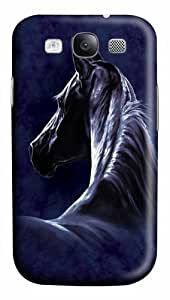 Samsung Galaxy I9300 Case and Cover -Moonlit Horse PC Hard Plastic Case for Samsung Galaxy S3/I9300 3D