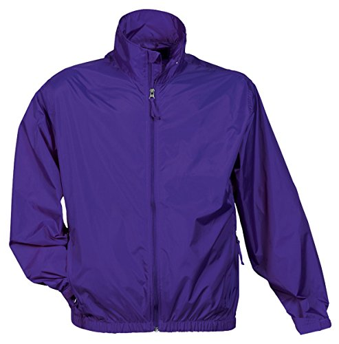 Purple Windbreaker - Tri Mountain Men's Lightweight Water Resistant Jacket, Purple, Large