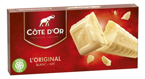 Belgian White Chocolate Bar Cote D´or | Belgian Chocolate 2x200gr | 14.1oz / 400gr.