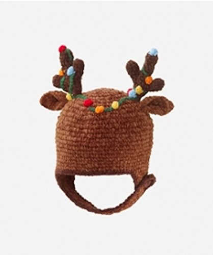 San Diego Hat Company Baby Boys' Chenille Reindeer Antleir Hat, Brown, 1-2 Years ()