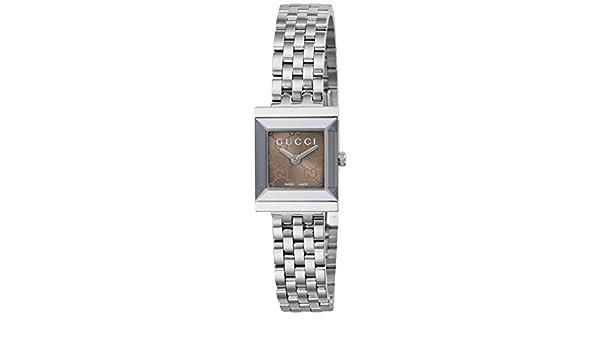 Gucci G-Frame Reloj de Mujer Cuarzo 22mm Correa y Caja de Acero YA128514: Amazon.es: Relojes
