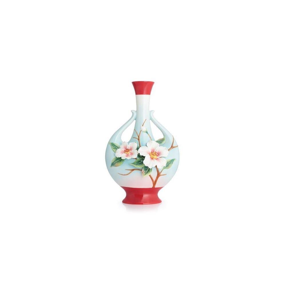 Franz Porcelain Everlasting Love camellia large vase Franz Fine Porcelain