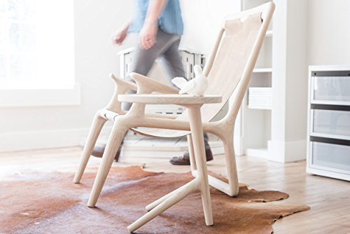 The Sling Chair - White Ash & Tan Leather
