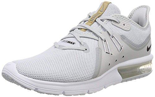 Nike Mens Air Max Sequent 3, Pure Platinum/Black-White, Size 10.0