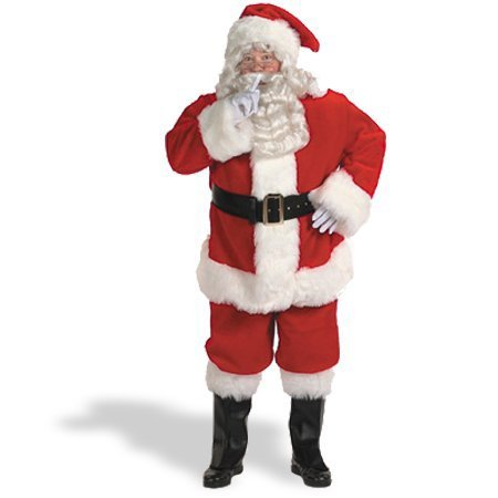 Halco Holidays Men's Professional Santa Claus Suit Costume, Size 42-48