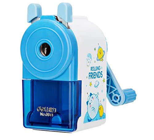 InnoDesktop Super Cute Cartoon Manual Rotary Pencil Sharpener, Best Pencil Sharpener for Kids and School (BLUE)