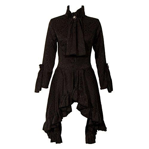Abrigo negro Negro Golden Steampunk Huntress POzrfWPq