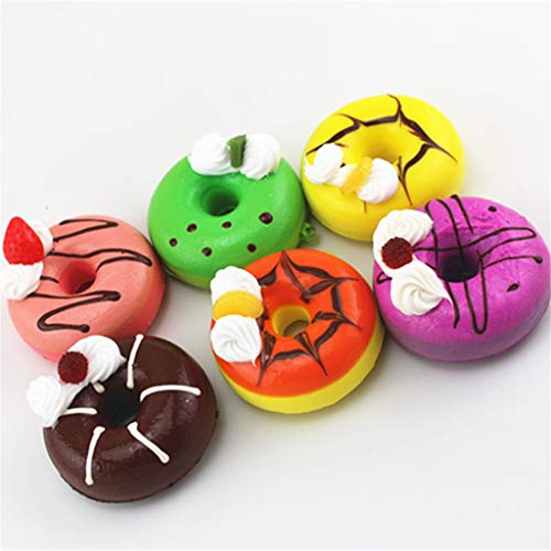 DDLmax Decompression Doll, 6Pcs Soft Colourful Ice Cream Doughnut Scented Slow Rising Toys
