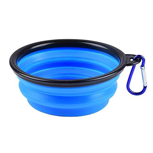 🥇 Plegable Viajes Silicona Gatos Perros Bowl Portable Pet Food Cuenco de Agua