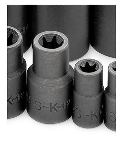 SK 19761 13 Piece 3/8-Inch Drive E4 to E24 Torx Socket Set