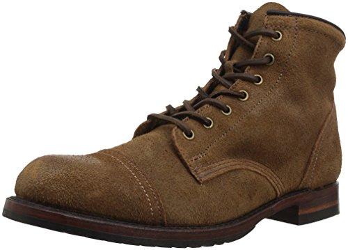 FRYE Men's Logan Cap Toe Combat Boot, 87849-Chestnut, 11 D US (Boots Logan Frye)