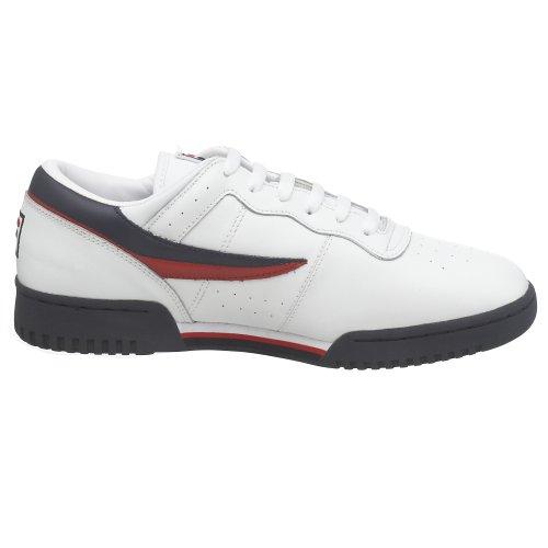 Fila Mens Original Fitness Lea Classic Sneaker Bianco / Navy-rosso