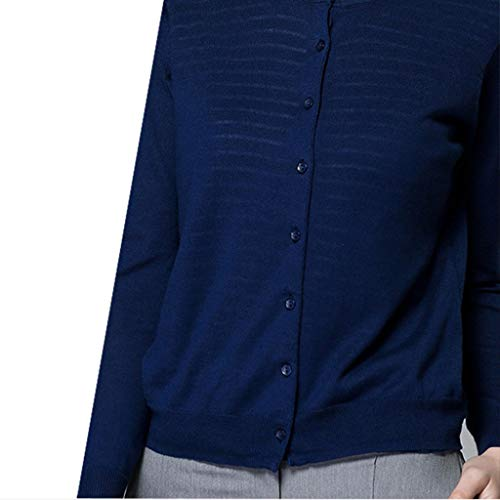 Aux Manche Rond Pull Automne Tricots Xl m L Paragraphe Manteau Coton Court Longue Faux Style Blue Femmes Bas Fin Morceaux Col Deux Nouveau Cardigan rSU8rW