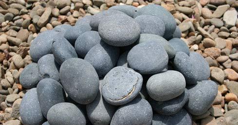 AA Plus Shop Grey Mexican Beach Stone Pebbles 50LB, 2-3