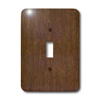 3dRose LLC lsp_41591_1 Dark Bamboo Wood Single Toggle Switch - Dark Switchplates