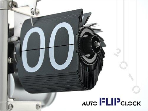 Karlsson Flip Klok : Retro flip down clock internal gear operated amazon elektronik