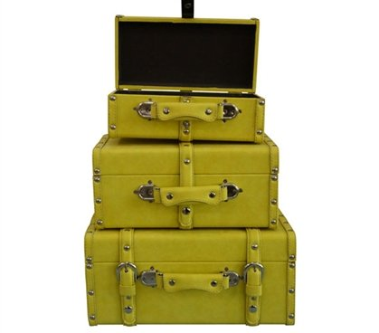 College-Ave Mini-Trunks (Set of 3) - Yellow