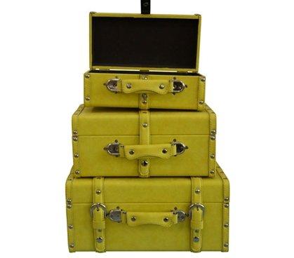DormCo College-Ave Mini-Trunks (Set of 3) - Yellow