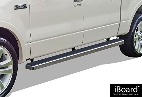 "APS Premium 4"" iBoard Running Boards Fit 04-08 Ford F150 SuperCrew Cab"