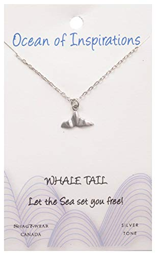 - Shag Wear Ocean of Inspirations Quote Pendant Necklace (Whale Tail Pendant)