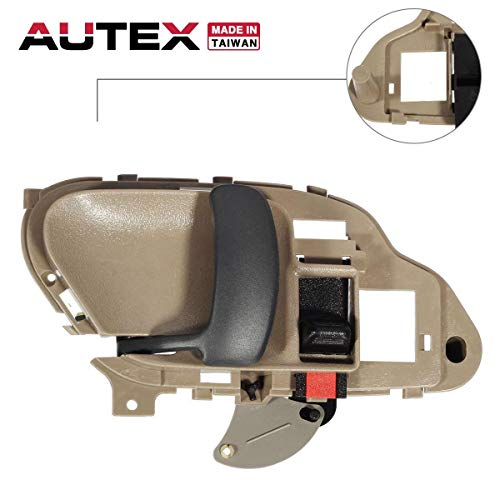 AUTEX 77570 Interior Front/Rear Left Door Handle Driver Side Compatible with Chevrolet,GMC C/K 1500 2500 3500 Pickup Suburban,Chevy Tahoe,GMC Yukon 1995 1996 1997 1998 1999 2000 2001 2002 GM1352152