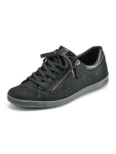 Sneaker Da Donna Avena Con Cerniera Lampo Nera Lucida