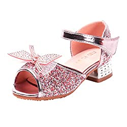 Girls Crystal Rhinestone Bling Bowknot Sequin Shoes