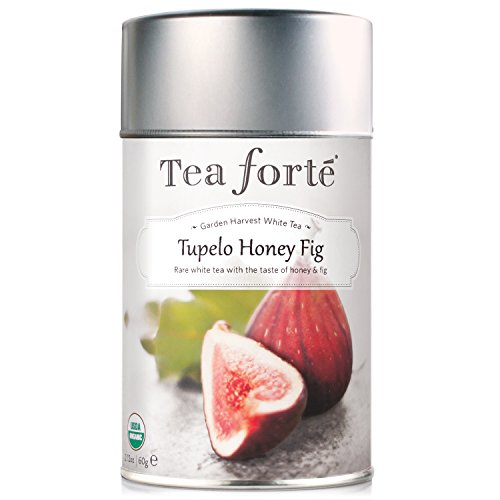 Tea Forte Garden Harvest White TUPELO HONEY FIG Organic Loose Leaf White Tea, 2.12 Ounce Tea Tin