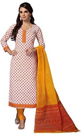 Vinay's Women's cotton Dress Material (Indian Art-Vedika_ Multicolour_ Free Size)