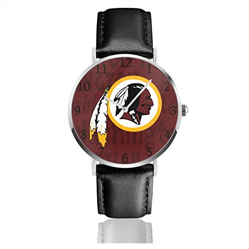 (Gdcover Custom Washington Redskins Unisex Casual Quartz Wrist Watches with PU Leather)
