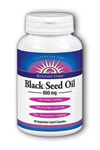 Heritage - Magnesio negro del aceite 650 de semilla. - 90 Cápsulas líquidas vegetales: Amazon.es: Salud y cuidado personal