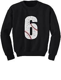 TeeStars - Baseball 6th Birthday Gift for Six Year old Youth Kids Sweatshirt